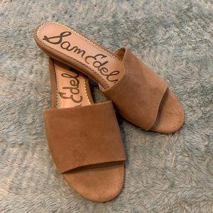 Sam Edelman Camel Slip On Sandal Mules
